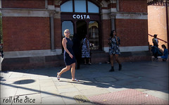`1803 (roll the dice) Tags: london londonist nw1 ni camden kingscross stpancras costa coffee tea lunch hot sunny weather mad sad funny pretty sexy girl people natural canon tourism fashion shop shopping uk art classic urban unaware unknown candid stranger portrait streetphotography shadows legs boobs sunglasses column