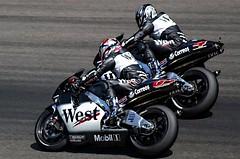 HONDA racer (driver Photographer) Tags:   aprilia cagiva honda kawasaki husqvarna ktm simson suzuki yamaha ducati daytona buell motoguzzi triumph bmv driver motorcycle leathers dainese