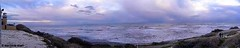 THE lighthouse (marilenaxiari) Tags: cameraphone ocean pink blue sea panorama cloud lighthouse white landscape photography photo rocks waves cloudy cyprus panoramic larnaca pervolia    thechallengefactory