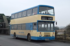 F137 PHM: Bannister t/a Isle Coaches, Owston Ferry (chucklebuster) Tags: blue volvo triangle isle coaches bannister citybus greygreen b10m f137phm