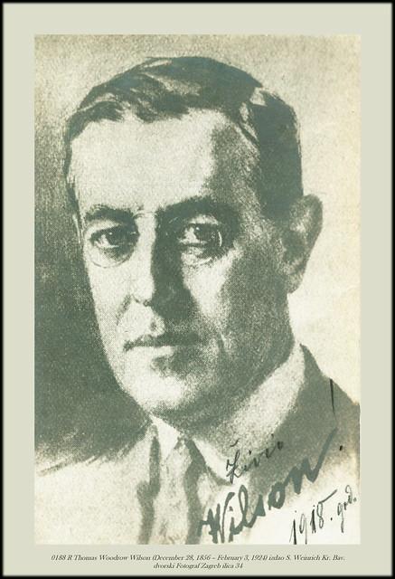 0188 R Thomas Woodrow Wilson (December 28, 1856 – February 3, 1924) izdao S. Weinrich Kr. Bav. dvorski Fotograf Zagreb ilica 34