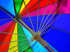 crayons (milomingo) Tags: multicolored umbrella spokes primary diagonal pattern bright bold vivid geometry vibrant angle
