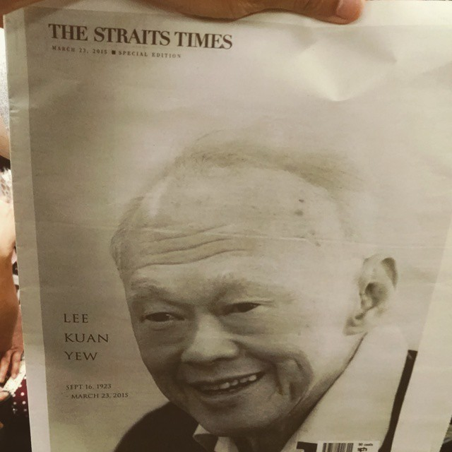The straits time Speacial edition | RIP Lee Kuan Yew