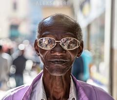 The Man with the Glasses (alex saberi) Tags: portrait black glasses cool character centre havana cuba oldman caribbean flickrsbest