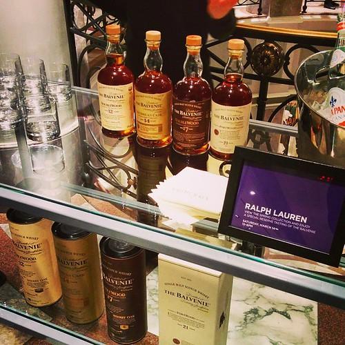 #Balvenie #scotch #tasting #RL #ralphlauren #bergdorfgoodman