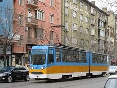 713 (ageorgiev98) Tags: railroad blue beauty electric train tren picture tram rail railway bulgaria tramway narrow socialism strassenbahn tramcar