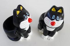 Cat egg-cups (Karin Riper († 24 April 2015)) Tags: cats animal cat figurine eggcups karinriper