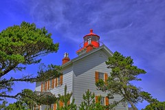 Yaquina Bay Lighthouse (Kirt Edblom) Tags: statepark blue lighthouse house oregon bay coast march spring nikon highway bluesky newport wife coastline oregoncoast hdr highway101 springtime newportoregon 2015 yaquinabay yaquinabaylighthouse gaylene easyhdr nikond7100