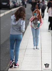 27229 (Jack the Hat Photographic) Tags: street ladies girls portrait portugal women phone bokeh lisbon candid teens redhead selfie 200mm f28l jamierobertson jackthehat