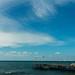 Pier in Mediterranean Sea