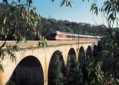 081-33 1991-08-04 WT27 on Knapsack viaduct at Lapstone (gunzel412) Tags: geotagged australia newsouthwales aus lapstone leonay geo:lat=3375859856 geo:lon=15064194024