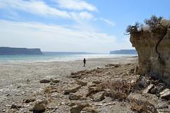 Banks Lake Beach Chunlin (Sotosoroto) Tags: cliff lake beach washington hiking bankslake grandcoulee dayhike columbiabasin