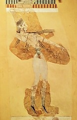 Fresco of a bull leaper from the Court of the Stone Spout and School Room at Knossos, Crete 1450-1375 BCE (mharrsch) Tags: painting ancient mural unitedkingdom oxford crete acrobat fresco knossos minoan 15thcenturybce 14thcenturybce mharrsch bullleaper theashmoleanmuseum