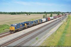 CSX 3216 (Marco Stellini) Tags: railroad ohio usa electric yard train general north evolution baltimore transportation csx intermodal gevo es44ac