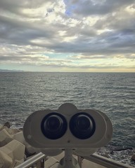 IMG_7674 (FranFerrandis) Tags: shotoniphone6s sky clouds cloud cloudysky bluesky sea seafront water pov pointofview binoculars valencia spain