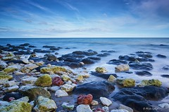 Revealed (Ali Ly) Tags: longexposure sea sky art beach water nikon rocks day outdoor hunstanton d810 sigma24mm leebigstopper