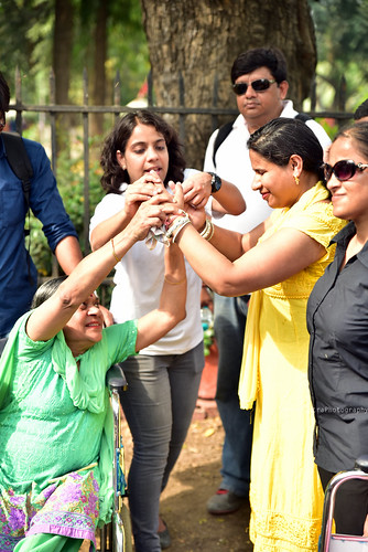 Accessible Tour of Red Fort, New Delhi: Planet Abled organizes inclusive tours for people of varied disabilities. Here travellers with different disabilities can be seen trying to understand the activities.