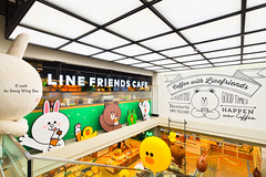 Seoul 2016: Line Store Interior (Wing Yau Au Yeong) Tags: architecture brown cafe cony edward interior itaewon line linefriends linestore mascots moon sally shopping stairs seoul southkorea kr