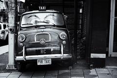 FIAT 600 Multipla (DHaug) Tags: blackandwhite monochrome vintage taxi ottawa fujifilm littleitaly fiat600 pubitalia fiat600multipla xpro2 xf35mmf14r