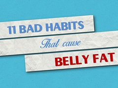 Bad Habits that Cause Belly Fat - Eating Scientifically (contfeed) Tags: fat belly eating habits food bad plates smoking digestive cause