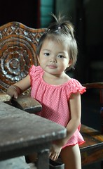 cute toddler in a carved wooden chair (the foreign photographer - ) Tags: pink cute portraits thailand wooden carved chair nikon toddler pretty dress bangkok khlong bangkhen thanon d3200 jul102016nikon