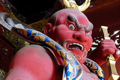 Rinnoji Taiyuin VII (Douguerreotype) Tags: shrine statue temple buddhist nikko face gate red japan