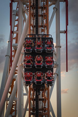 Rollercoaster (d.dk) Tags: fun passengers people car rollercoaster summer boardwalk newyorkcity brooklyn newyork coneyisland