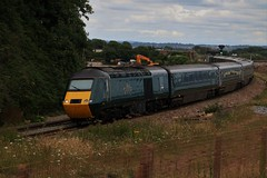 LA15 | Langstone Rock | Dawlish Warren (Western Railway Photography) Tags: class 43 hst high speed train intercity 125 ic125 western region dawlish warren south devon seawall gwr first great railway 43187 43188 la15 green set