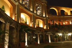 Quinta Real (sonyalpha7II) Tags: night city zacatecas mexico lights exposure reflection colors quinta real hotel monument
