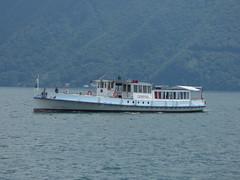Riva Vincenzo Vela, Lugano - boat - Ceresio (ell brown) Tags: trees tree switzerland boat ticino lugano lakelugano glaciallake lagodilugano ceresio rivavincenzovela italianlakedistrict luganocentro