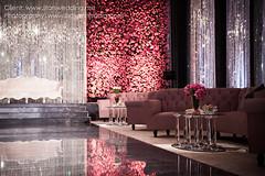 Stars Wedding | Instagram: @bayanalsadiq (Bayan AlSadiq) Tags: flowers wedding red beauty groom bride mirrors places swarovski weddings riyadh khobar dammam