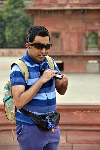 Accessible Heritage Tour to Red Fort: Pranav, one of our consistent supporter and traveller, who is blind was also a part of the Red Fort Tour.
