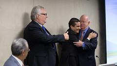 Ministro Marcos Pereira cumprimenta Albano Franco, Conselheiro Emrito da CNI (mdic.gov.br) Tags: cni robson andrade mdic marcos pereira comrcio exterior