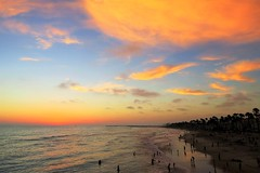 Summer Night California Style (moonjazz) Tags: twilight glow weather beach california summer sunset perfect coastline southern pretty clouds pink pastel oceanside vaction pacificocean colors sky photography moonjazz coast blue soft