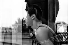 Negative0-05-1A (Solne Tarrieu) Tags: analogue argentique film fujifilm polaroid minolta street bordeaux france amateur solnetarrieu noiretblanc blackandwhite personne people men homme male maleportrait effet style life regard