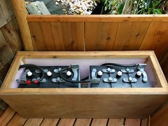 Battery Bench (Heath & the B.L.T. boys) Tags: solar gogreen permaculture homestead bench porch