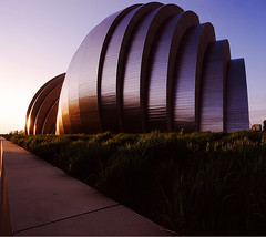 Kauffman Center Sunrise (torn8o) Tags: kauffmancenter performingarts kansascity sunrise kodakportra canoneos3 missouri