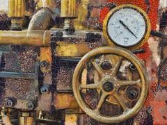 Under Pressure! (Explored) (leigh-kemp.pixels.com) Tags: steamengine machinery painterly textured klimpt leighkempphotoart omdem5 mzuiko1240mm128