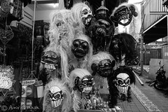 Evil Spirits (amirdakkak1) Tags: masks mask bali cultures culture indonesia history art travel travellers travelling wander wanderlust wonderful beautiful black white smile smiling wearing wear face faces