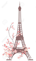 paris spring (SpiriT UrbaN) Tags: eiffel tower france paris toureiffel spring flowers pink blossom symbol season sightseeing tourism architecture culture design french isolated landmark national seasonal retro blooming branches romantic silhouette style tour travel vector abstract sights art europe famous graphic icon illustration monument historic clipart