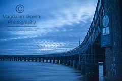 Curved Blues - Tay Rail Bridge  - Dundee Scotland (Magdalen Green Photography) Tags: scotland dundee scottish coolblue tayrailbridge 6031 dundeewestend magdalengreenphotography curvedblues