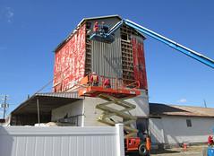 Washington Elevator rehabilitation (Larry the Biker) Tags: rural michigan country farming elevator ag agriculture grainelevator smalltown ruralamerica washingtontownship