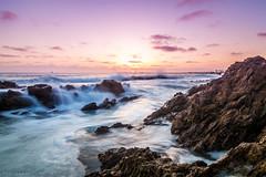 Corona Del Mar Beach (mnlphotography) Tags: ocean longexposure sunset seascape beach nature water canon landscape waves tokina coronadelmar 70d induro indurotripod