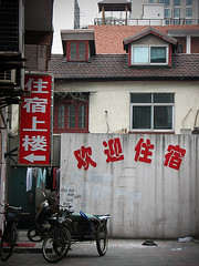 Shanghai: Walking through the street #5 (BribbroPhoto) Tags: travel town shanghai viaggi cina citt canonpowershots3is
