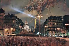 avenue de Saxe (isabelle reynier) Tags: city light paris france tower night landscape tour eiffel isabelle ville reynier