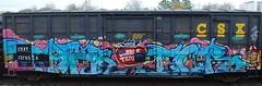 DUBBLE TROUBLE (us301Retro) Tags: bench graffiti paint buff boxcar bomb traingraffiti trainart csxt railcargraffiti dubbletrouble