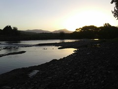 Goodbye (thefrogpower) Tags: sunset sun water stone river de ventana la duck girlfriend flickr path no sierra rolling