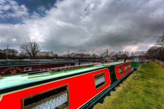 Wyvern Song,  Dream Catcher (inkslinger15) Tags: sky water clouds marina boats hdr wisley barges bracketed promotecontrol