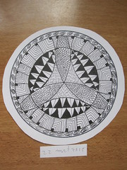 Zentangle rond 2 (Marjan 8) Tags: paper round rond zentangle