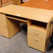 Beech PC study desk with drawers